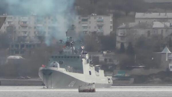 Ammiraglio Grirogovich parte da Sebastopoli per le coste siriane - Sputnik Italia