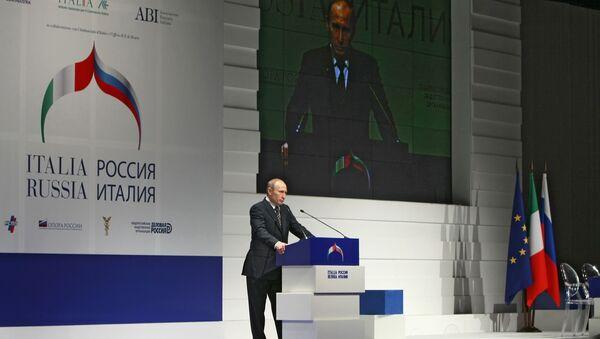 Vladimir Putin interviene al Forum Economico Russia-Italia (foto di repertorio) - Sputnik Italia