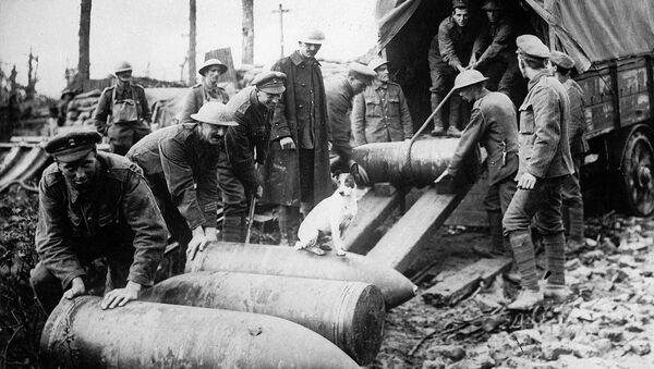 Scaricamento di missili. Prima guerra mondiale. - Sputnik Italia
