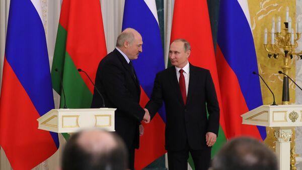 Incontro tra Vladimir Putin e Alexander Lukashenko - Sputnik Italia