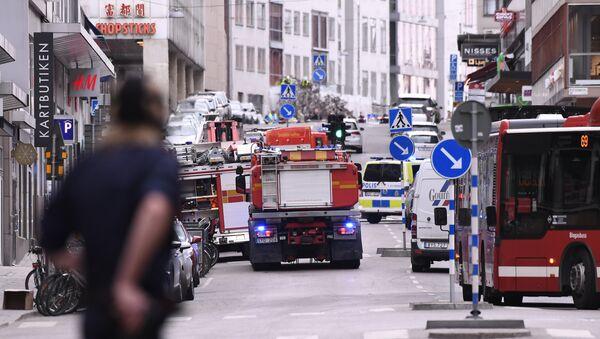Il luogo dove si è verificato l'incidente nel centro di Stoccolma - Sputnik Italia
