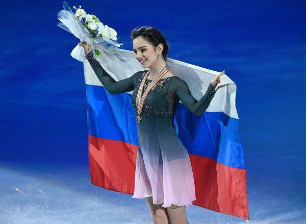 Evgenija Medvedeva ai Campionati mondiali di pattinaggio di figura a Helsinki. Ha vinto l'oro. - Sputnik Italia