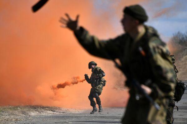 Le esercitazioni congiunte della Russia e Bielorussia a Vicebsk. - Sputnik Italia