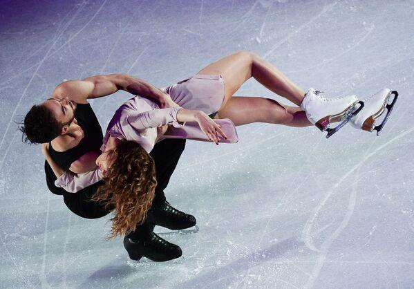 Gabriella Papadakis e Guillaume Cizeron. Hanno vinto l'argento ai Campionati mondiali di pattinaggio di figura 2017. - Sputnik Italia