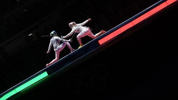 Un combattimento di scherma alle Olimpiadi di Rio - Sputnik Italia