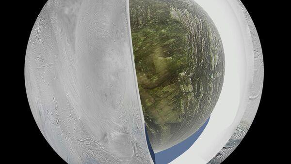 Modello che raffigura la struttura di Encelado, satellite di Saturno - Sputnik Italia