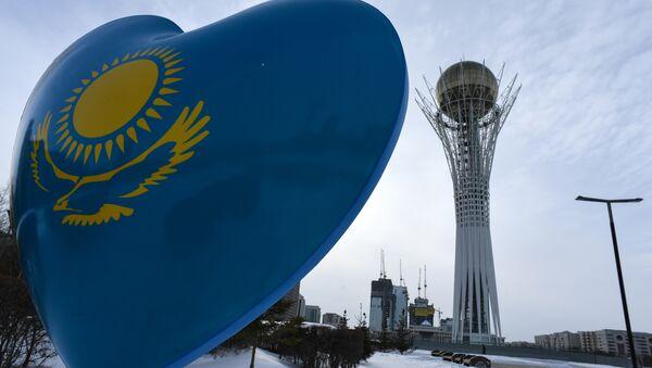 A picture taken on January 22, 2017 shows the Baiterek monument in downtown Astana - Sputnik Italia