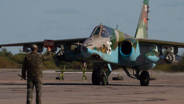 Caccia Su-25 delle forze aeree della Bielorussia - Sputnik Italia