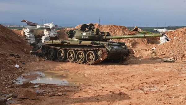 A tank at the Syrian Army's position to the north of Hama - Sputnik Italia