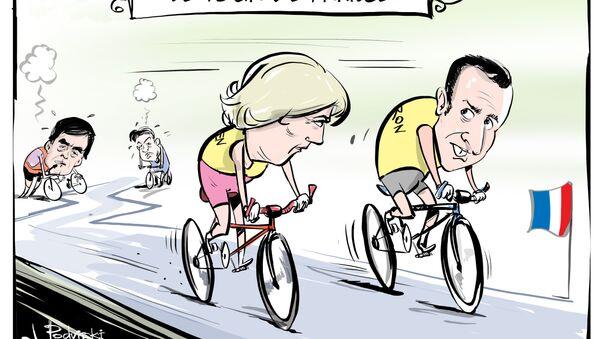 Le Pen e Macron alle elezioni presidenziali. - Sputnik Italia