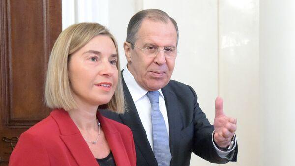 Incontro tra Sergei Lavrov e Federica Mogherini - Sputnik Italia