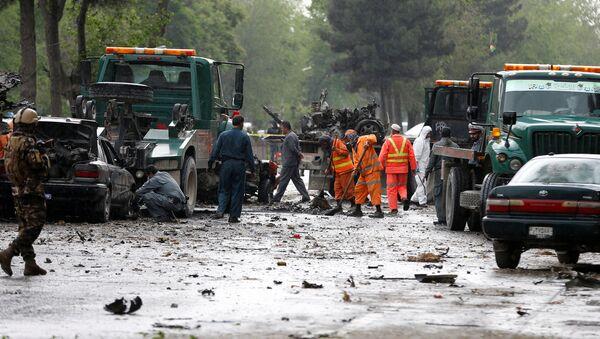 Al sito dell'attentato terroristico a Kabul, Afghanistan. - Sputnik Italia
