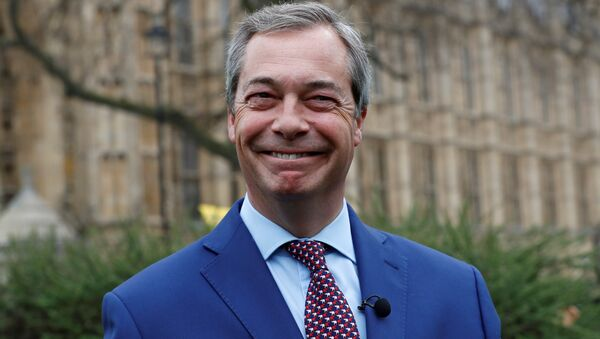 Nigel Farage, former leader of UKIP and anti-EU campaigner stands outside the Houses of Parliament, in London, Britain March 29, 2017.  - Sputnik Italia