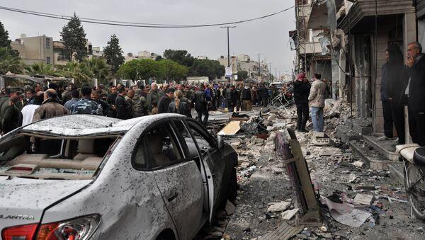 Dopo esplosione di un'autobomba - Sputnik Italia