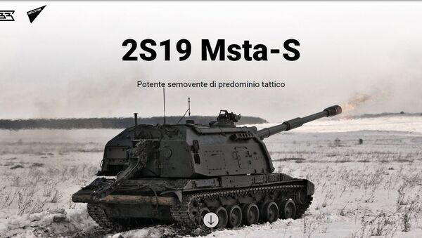 Potente semovente di predominio tattico 2S19 Msta-S - Sputnik Italia