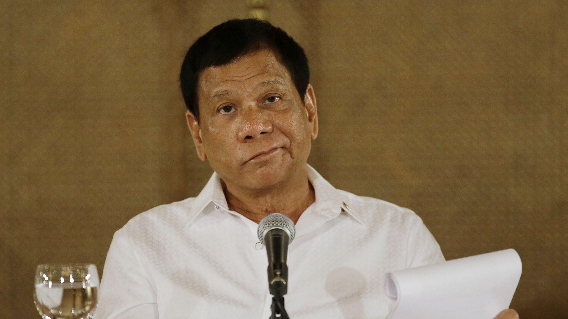 Il presidente filippino Rodrigo Duterte - Sputnik Italia, 1920, 14.10.2021