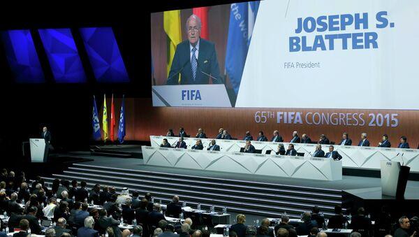 FIFA, intervento Joseph Blatter prima elezioni - Sputnik Italia