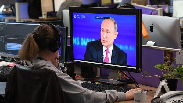 La linea diretta con il presidente Putin. - Sputnik Italia