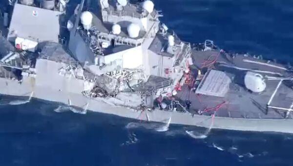 Damaged USS Fitzgerald - Sputnik Italia