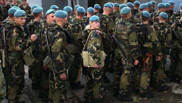 I parà bielorussi arrivano per le esercitazioni Zapad. (foto d'archivio) - Sputnik Italia