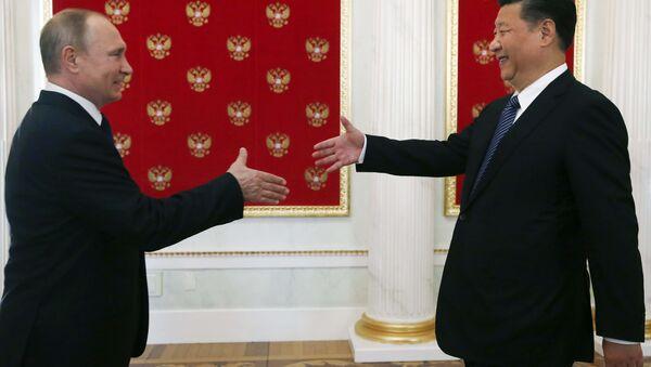 Conferenza stampa tra Vladimir Putin e Xi Jinping - Sputnik Italia