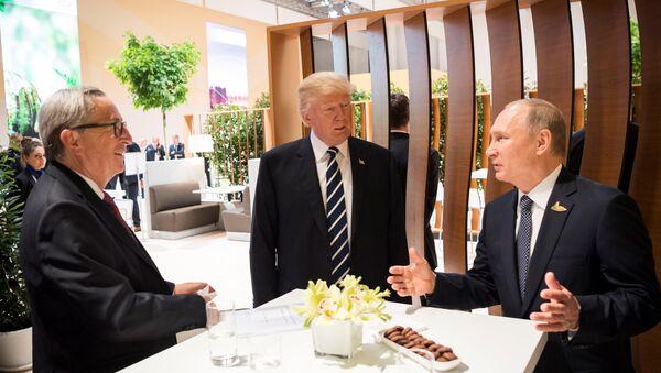 Putin, Junker e Trump al G20 di Amburgo - Sputnik Italia