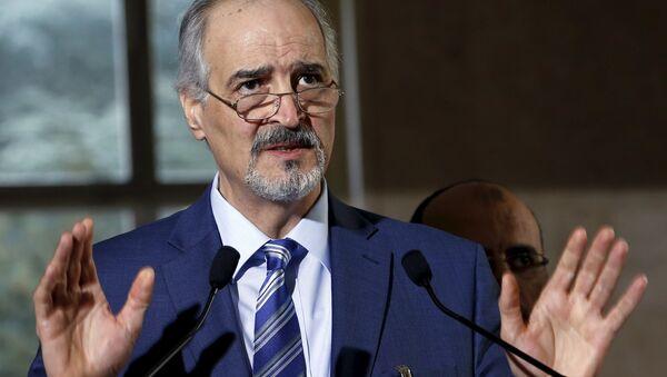 Capo della delegazione di Damasco, l'ambasciatore all'ONU Bashar Jaafari - Sputnik Italia