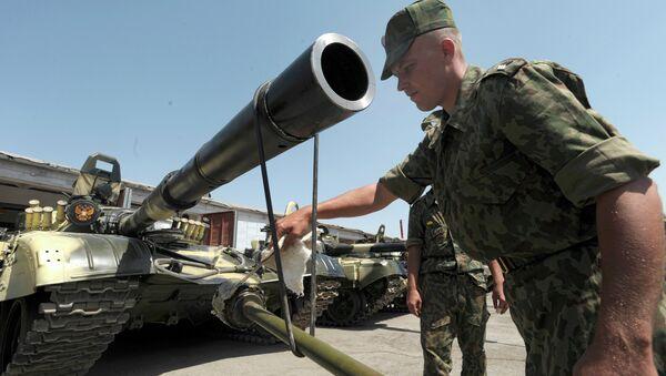 Russian forces on the territory of the 201st military base in Tajikistan. File photo - Sputnik Italia