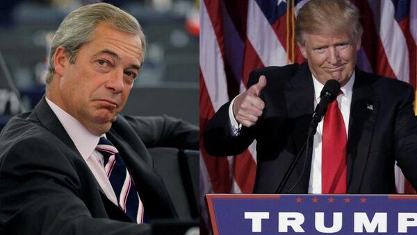 Nigel Farage e Donald Trump - Sputnik Italia