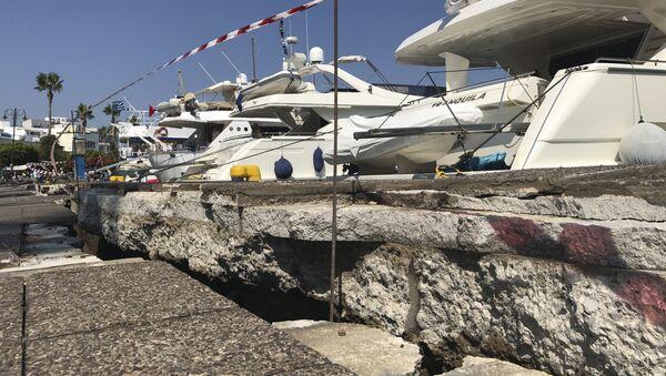 Conseguenze del terremoto sull'isola di Coo - Sputnik Italia