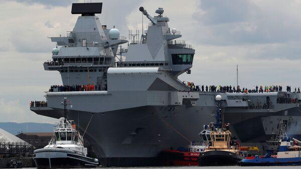 La più grande nave militare britannica, la HMS Queen Elizabeth - Sputnik Italia