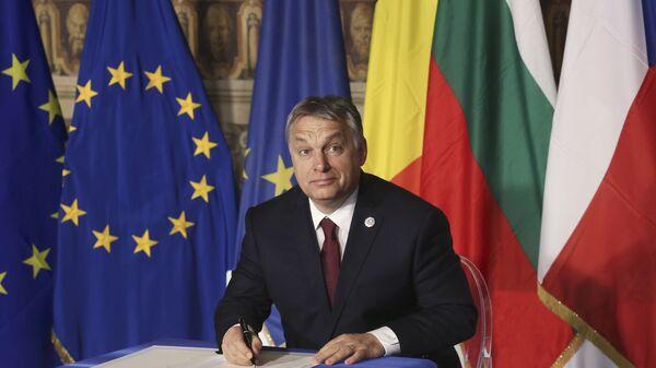 Il primo ministro ungherese Viktor Orban. (foto d'archivio) - Sputnik Italia