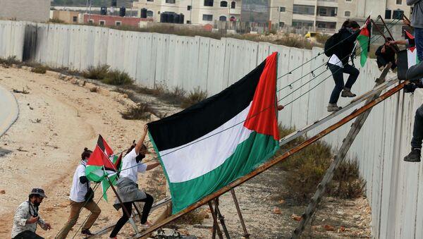 Attivisti stranieri e palestinesi attraversano il muro di israele. - Sputnik Italia
