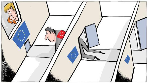 Al momento è chiaro che la Turchia non potrebbe entrare in Europa. Se ne parlerà anche al prossimo Consiglio europeo, in autunno. E quindi dopo le elezioni tedesche. Lo ha detto il portavoce di Angela Merkel Steffen Seibert. - Sputnik Italia