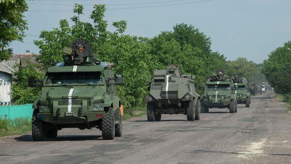 Convoglio militare ucraino, Donbass - Sputnik Italia