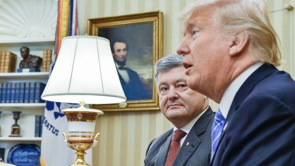 L'ultimo incontro tra Poroshenko e Trump - Sputnik Italia