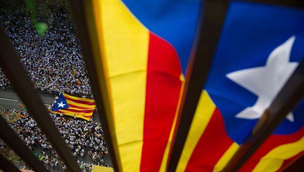 National Day of Catalonia celebrated in Barcelona - Sputnik Italia