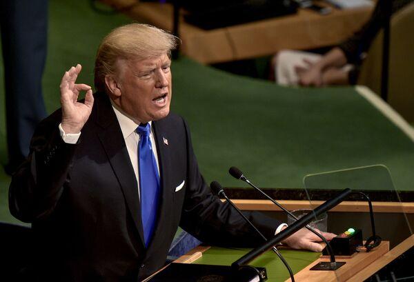 Il presidente USA Donald Trump alla sessione dell'Assemblea generale ONU a New York. - Sputnik Italia