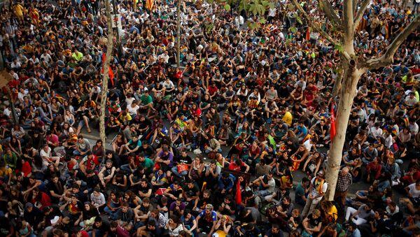 Manifestazioni a Barcellona - Sputnik Italia