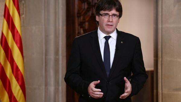 Carles Puigdemont, el presidente catalán - Sputnik Italia