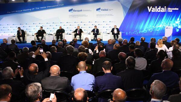 La sessione plenaria del Forum di discussione Valdai Club - Sputnik Italia