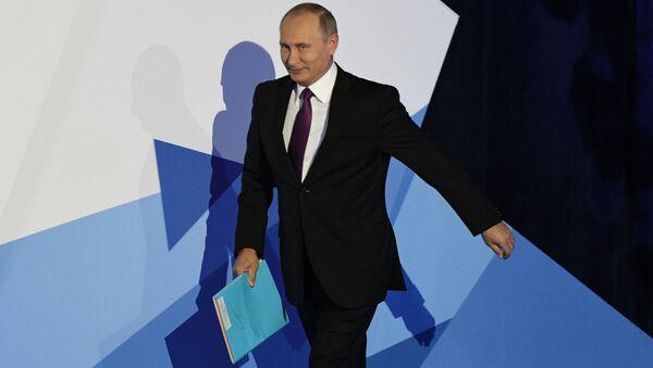 Il presidente russo Vladimir Putin alla sessione conclusiva del Valdai Club. - Sputnik Italia