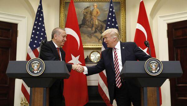 US President Donald Trump's meeting with Turkish President Recep Tayyip Erdogan in Washington on May 16, 2017 - Sputnik Italia
