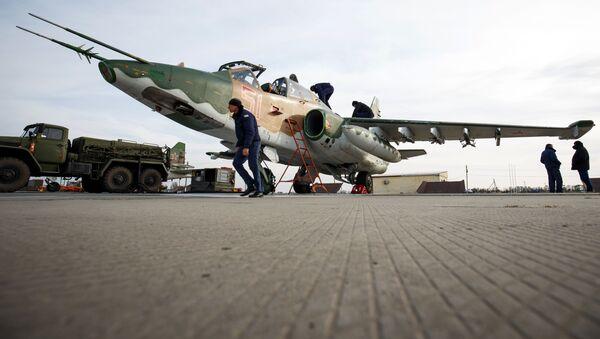 L'addestramento degli avieri russi a bordo dei caccia Sukhoi SU-25 - Sputnik Italia