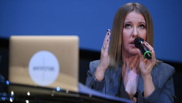 Ksenia Sobchak, conduttrice televisiva russa e candidata alle presidenziali russe - Sputnik Italia