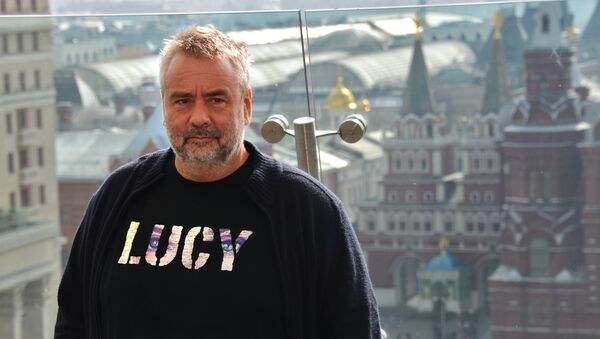 Luc Besson presents his movie Lucy in Moscow - Sputnik Italia