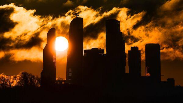 Sunrise over the Moscow City district - Sputnik Italia