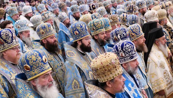 Божественная литургия в Кафедральном Соборном Храме Христа Спасителя в Москве - Sputnik Italia