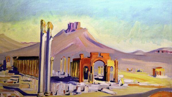 Una riproduzione del quadro Palmira di Akseli Gallen-Kallela - Sputnik Italia