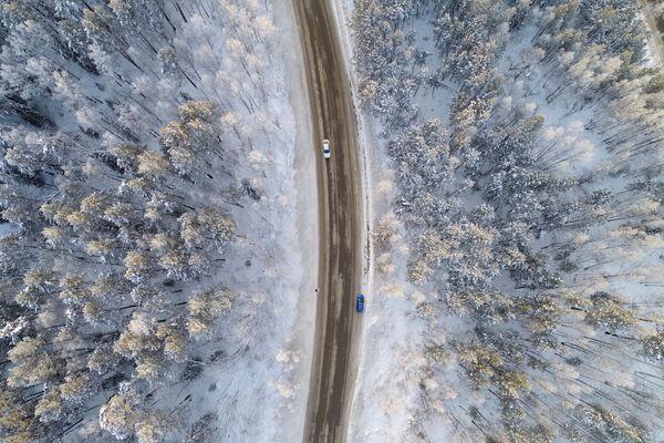 Una strada nei pressi di Krasnoyarsk, Russia. - Sputnik Italia